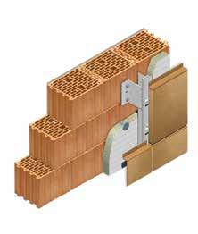 Кладка стены из керамических блоков KERAKAM 25 с применением навесного вентилируемого фасада